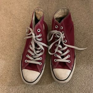 Burgundy Hightop Converse